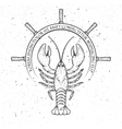 lobster helm of the ship vector image