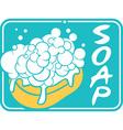 Soap label vector image vector image