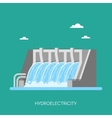 Hydro power plant and factory Energy industrial vector image