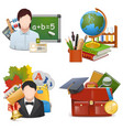 School Concept Icons Set 2 vector image vector image