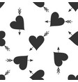 amour symbol with heart and arrow seamless pattern vector image