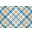 Blue beige check seamless background vector image