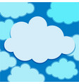 clouds floating on blue sky vector image