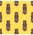 Cute owl seamless vector image