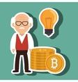 man bit coin idea vector image