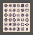 mandalas set Decorative ethnic vector image