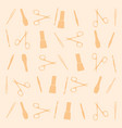 pattern manicure tools on a yellow background vector image