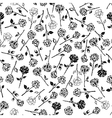Roses floral seamless pattern background vector image