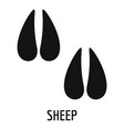 sheep step icon simple style vector image