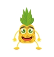 smiling pineapple food tropical vector image