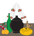 table with Ukrainian cuisine vector image