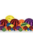 Colorful balls border vector image vector image