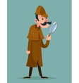 Victorian detective magnifying glass investigation vector image