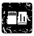 SD memory card icon grunge style vector image