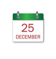 Christmas Day green icon vector image