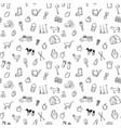 farm seamless pattern background set vector image