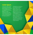 Abstract geometric background using Brazil flag co vector image