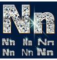 Ultimate alphabet of diamonds and platinum ingot vector image