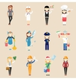 Girl characters in professional clothing vector image