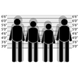 line up police vector image