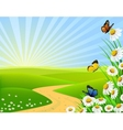 beautiful nature vector image