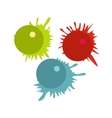 Paintball balls with splashes icon vector image