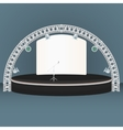 flat dais round stage lights truss vector image