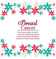 breaster cancer card celebration vector image
