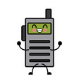 kawaii walkie talkie communication radio cartoon vector image