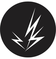 lightning icon vector image