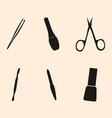manicure and chiropody tools collection vector image