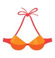orange swimsuit bra icon cartoon style vector image