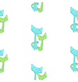 pattern with drawing of cute origami cats vector image