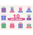 set of colorful gift box symbols vector image