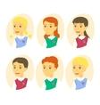 Set of cute cartoon pupils Children icon set vector image