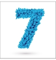 Seven 7 number vector image