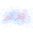 holiday festival firework vector image vector image