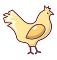 chicken icon cartoon style vector image