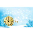 Holiday blue background Happy New Year vector image