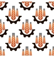 Seamless pattern of agriculture emblem vector image vector image