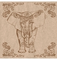 elephant brown vector image vector image