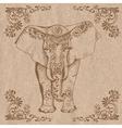 elephant brown vector image