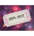 Old concert vintage paper sale coupon with code vector image vector image
