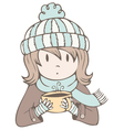 Hot Cocoa Girl vector image