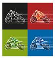 racing icon vector image