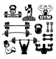 badges and labels for gym and fitness club sport vector image