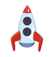 cartoon of space rocket ship vector image