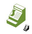 Cashier symbol Cash register sign Accounting money vector image