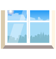 Cityscape Window View vector image