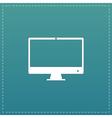 Computer display icon Monitor simbol vector image